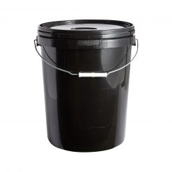 Black Plastic Bucket With Lid